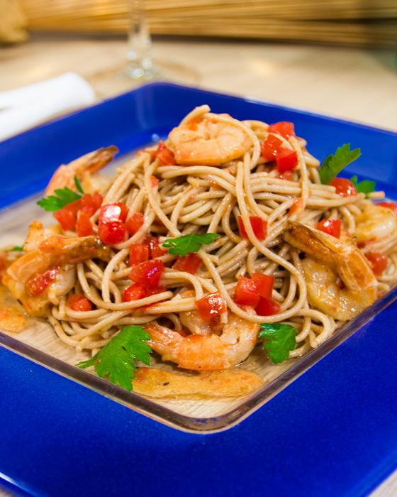 spaghetti-garides